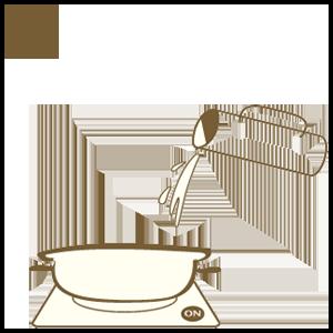倒入約 1/3 鍋的高湯 並開啟電磁爐加熱