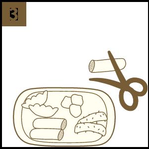 炸物可直接食用 或剪成小塊放入鍋中